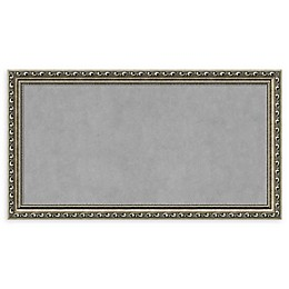 Amanti Art Framed Magnetic Board in Parisian Silver