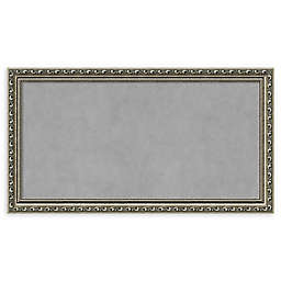 Amanti Art Framed Magnetic Board in Parisian Silver