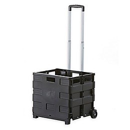 Vanderbilt Home Collapsible Cart with Bungee Cord in Black