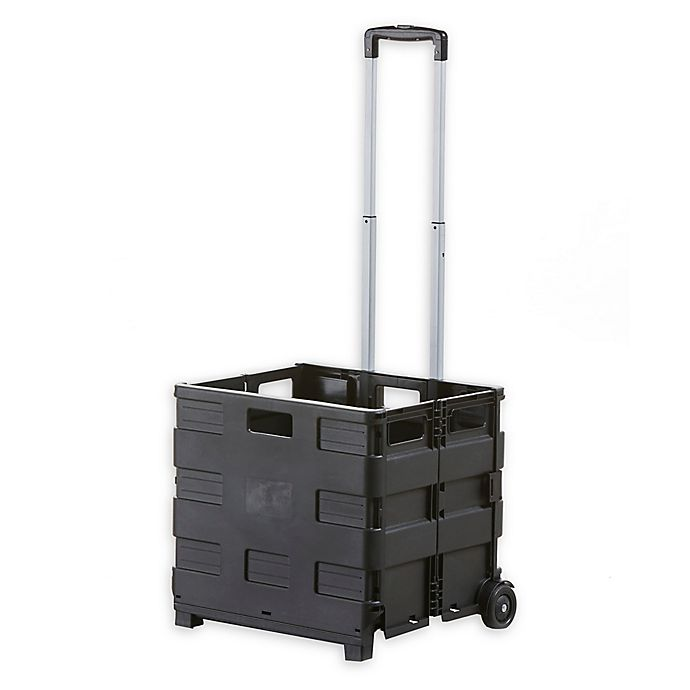 Alternate image 1 for Vanderbilt Home Collapsible Cart with Bungee Cord in Black