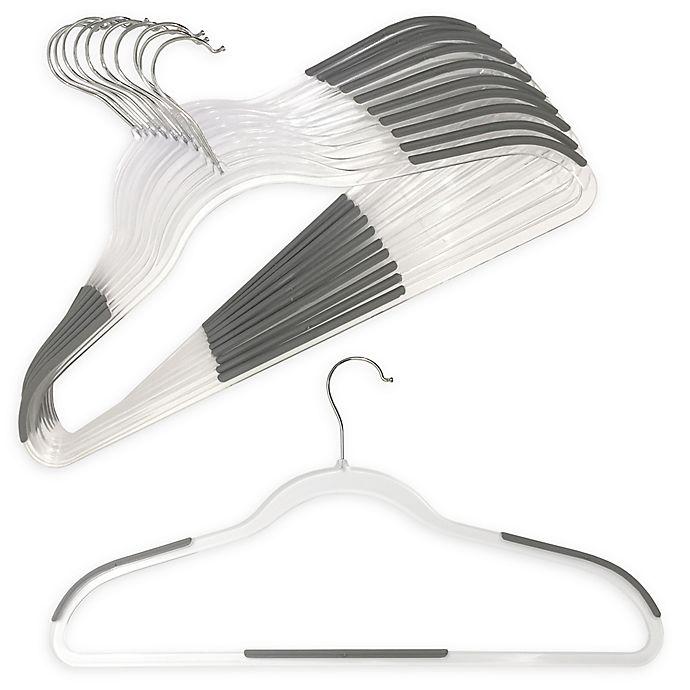Alternate image 1 for Studio 3B Slim Grips 10-Pack Clear Hangers