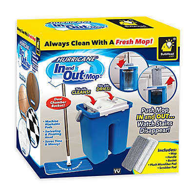 Hurricane® 5-Piece In and Out Mop and Bucket Set in Blue/White