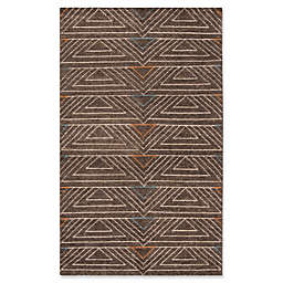Safavieh Ann Stone Wash Rug in Dark Brown