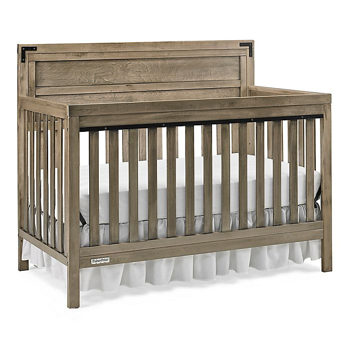 Alternate image 1 for Fisher-Price® Paxton 4-in-1 Convertible Crib in Vintage Grey