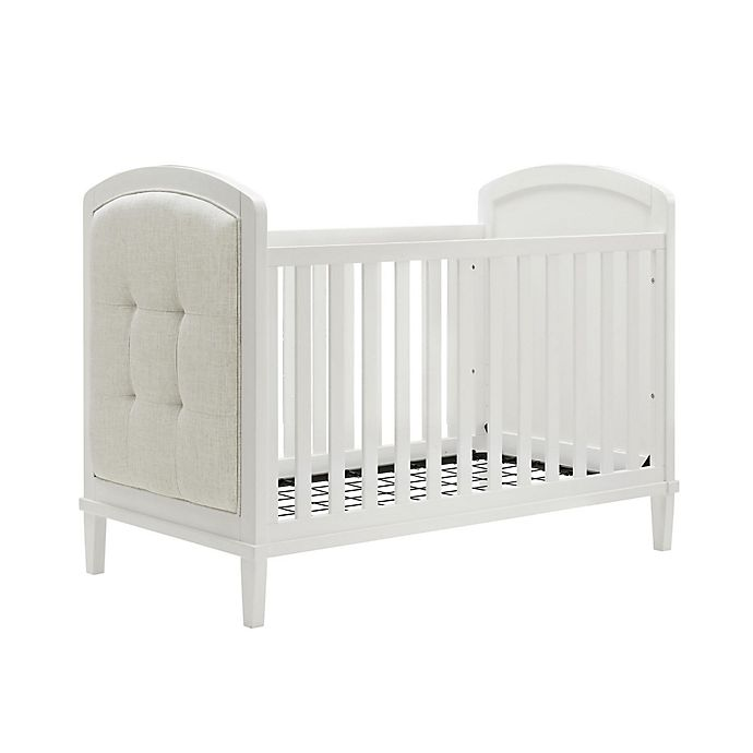 Alternate image 1 for Baby Relax Senna 3-in-1 Upholstered Convertible Crib in White