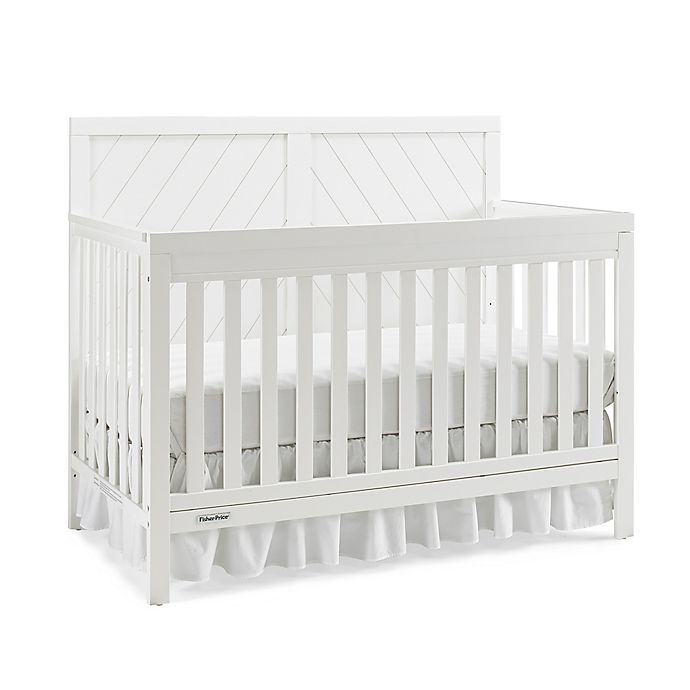 Alternate image 1 for Fisher-Price® Buckland 4-in-1 Convertible Crib in Snow White