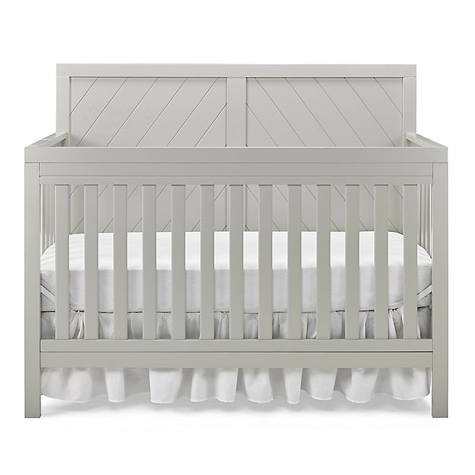 Alternate image 1 for Fisher-Price® Buckland 4-in-1 Convertible Crib in Misty Grey