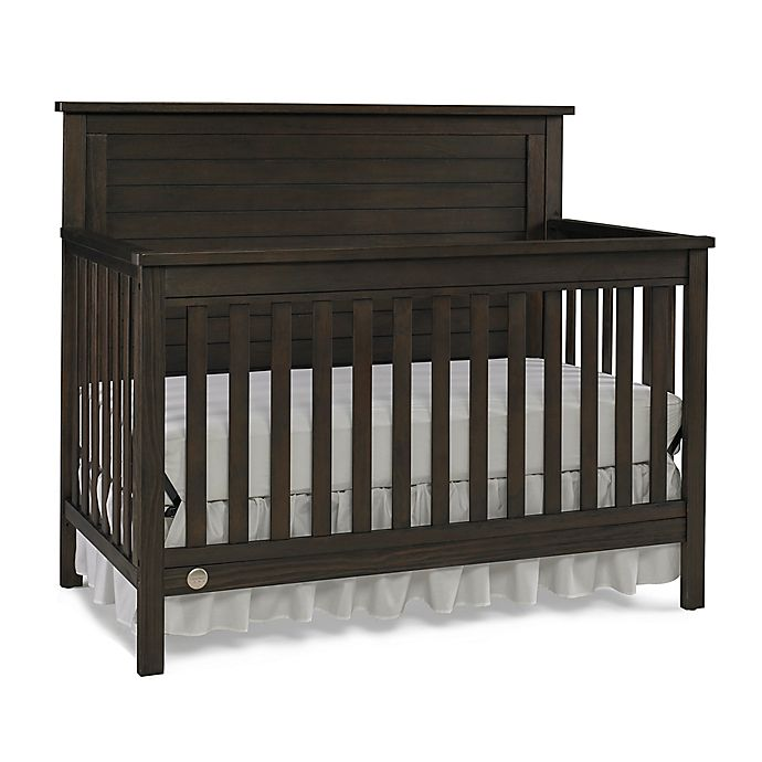 Alternate image 1 for Fisher-Price® Quinn 4-in-1 Convertible Crib in Weathered Brown