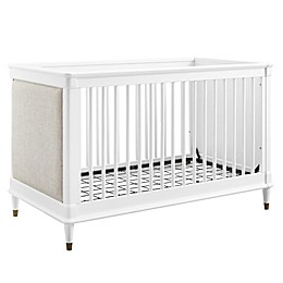 Bertini® Marquette 3-in-1 Upholstered Convertible Crib in White