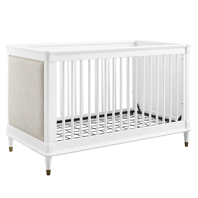 Alternate image 1 for Bertini® Marquette 3-in-1 Upholstered Convertible Crib in White