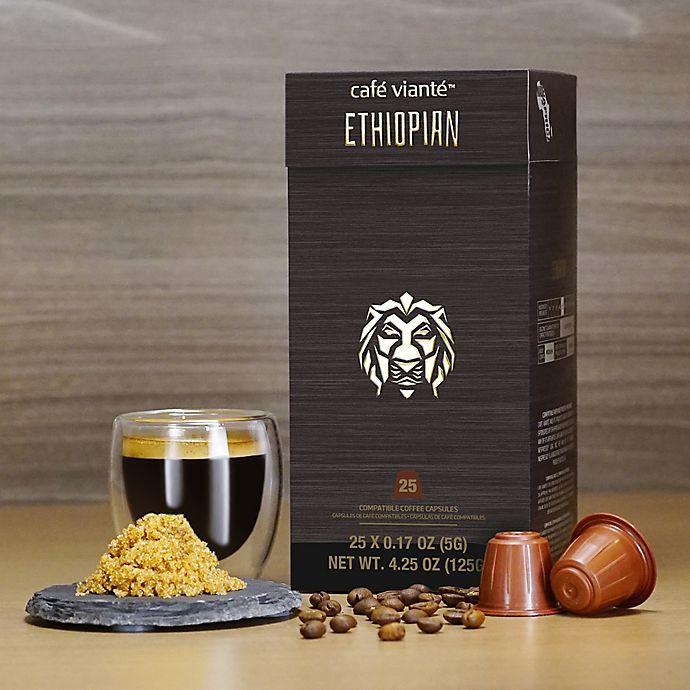 Alternate image 1 for Café Vianté® 25-Count Ethiopian Espresso Capsules