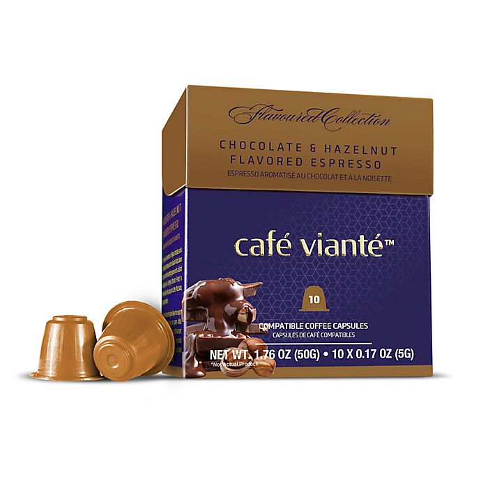 Alternate image 1 for Café Vianté® 10-Count Chocolate Hazelnut Espresso Capsules