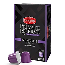 20-Count Community Coffee® Private Reserve® Signature Espresso Capsules