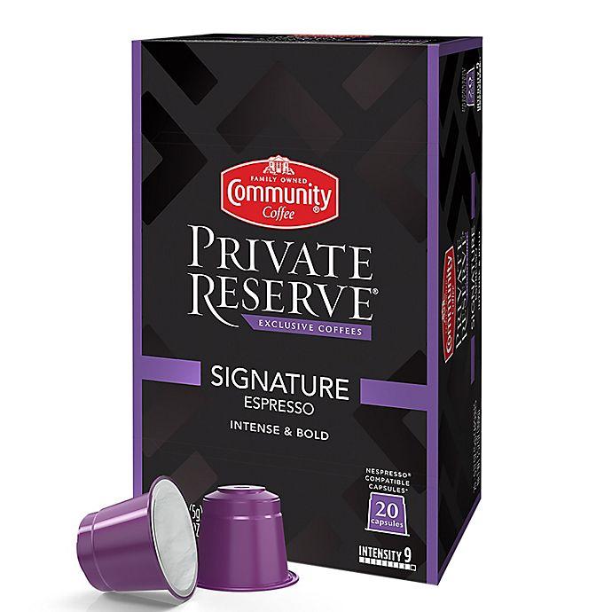 Alternate image 1 for Community Coffee® Private Reserve® Signature Espresso Capsules 20-Count