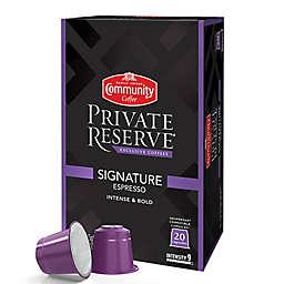 20-Count Community Coffee® Private Reserve® Signature Espresso Capsules
