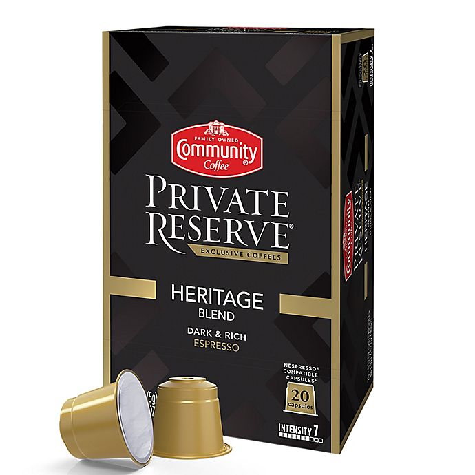 Alternate image 1 for Community Coffee® Private Reserve® Heritage Espresso Capsules 20-Count