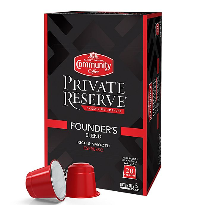Alternate image 1 for Community Coffee® Private Reserve® Founders Espresso Capsules 20-Count