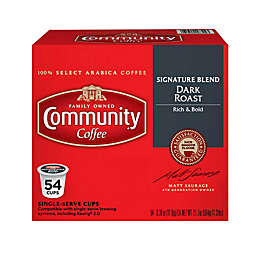 54-Count Community Coffee® Signature Blend Dark Roast for Single Serve Coffee Makers