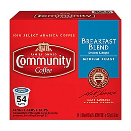 54-Count Community Coffee® Breakfast Blend for Single Serve Coffee Makers