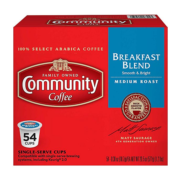 Alternate image 1 for Community Coffee® Breakfast Blend Pods for Single Serve Coffee Makers 54-Count