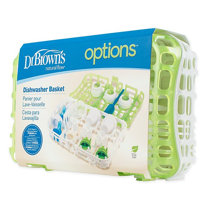 Alternate image 1 for Dr. Browns® Natural Flow® Bottle Parts Options™ Dishwasher Basket in Green