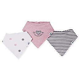 asher and olivia® 3-Pack Heartbreaker Bandana Bibs in Pink