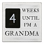 The Peanut Shell® Grandma Countdown 8-Inch Square Chalkboard in Black/White