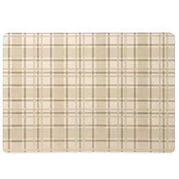 Tuscan Plaid Laminated Placemat in Oatmeal