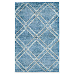 Safavieh Stone Wash Kim 4' x 6' Area Rug in Blue