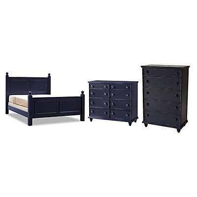John Boyd Designs Notting Hill Poster Bed Furniture Collection in Blueberry