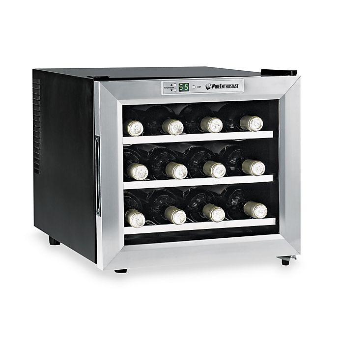Wine Enthusiast Silent 12 Bottle Refrigerator With Stainless Steel Trim Door