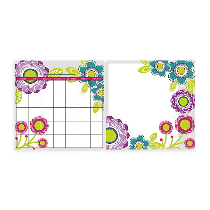 Alternate image 1 for WallPops!® Removable Dry Erase Monthly Calendar/Message Board Set in Poppy