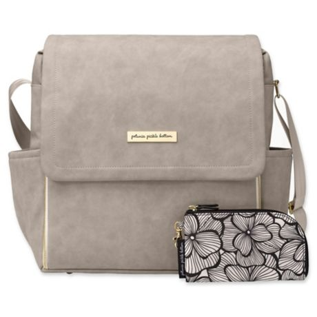 Petunia Pickle Bottom Boxy Backpack Diaper Bag In Grey Matte Leatherette Baby