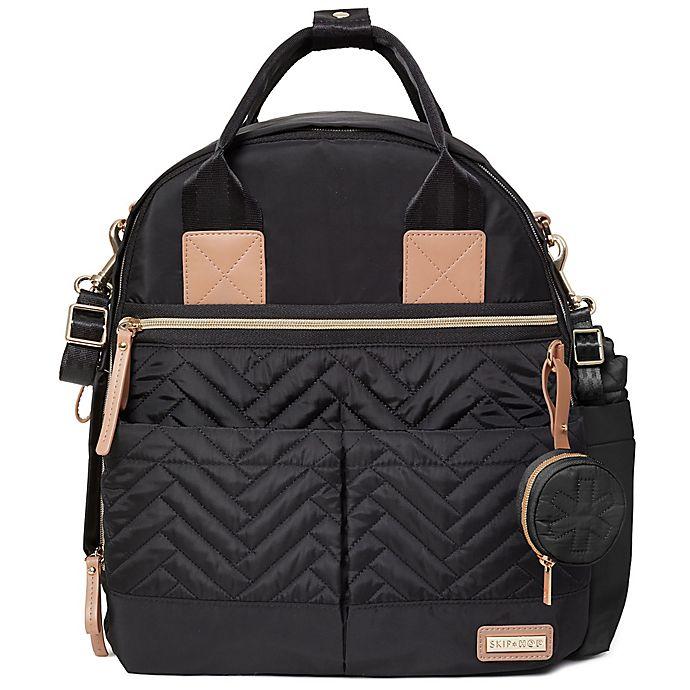Alternate image 1 for SKIP*HOP® Suite 6-Piece Diaper Backpack Set in Black