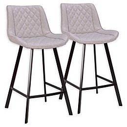 Lumisource™ Faux Leather Upholstered Wayne Counter Stools (Set of 2)