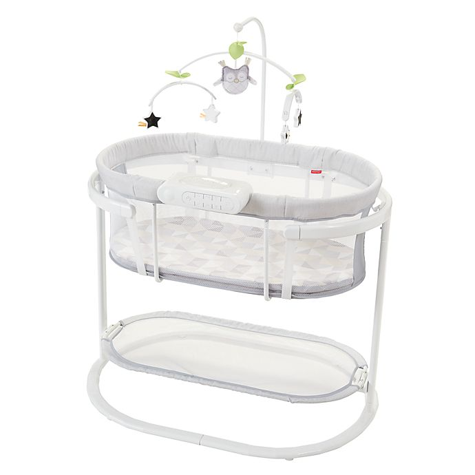 Alternate image 1 for Fisher-Price® Smart Connect™ Soothing Motions™ Bassinet in Grey