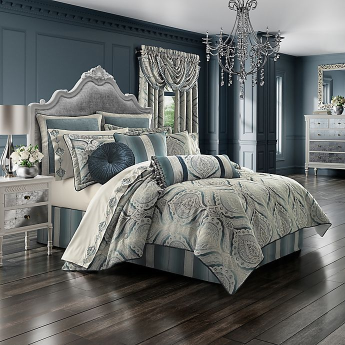 Alternate image 1 for J. Queen New York™ Gianna Queen Comforter Set in Spa