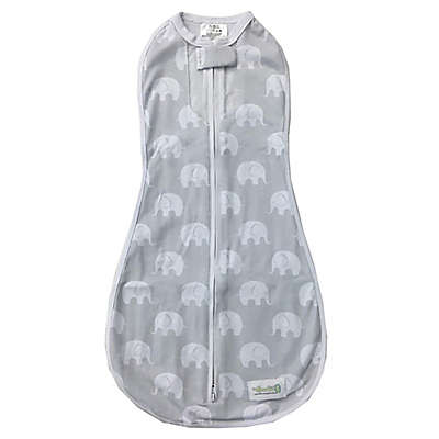 Woombie Air® Misty Elephant Swaddle in Grey