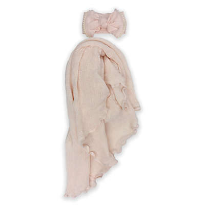 Toby™ NYGB 2-Piece Take Me Home Headband and Forever Wrap in Light Pink