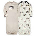Gerber® Size 0-6M 2-Pack Tiger Gowns in Beige