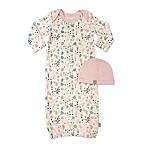 Finn by Finn + Emma® 2-Piece 100% Organic Floral Gown and Hat Set