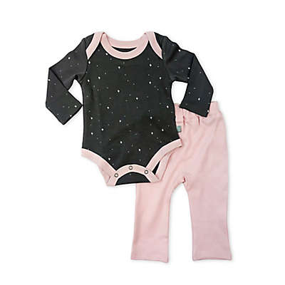 Finn by Finn + Emma 2-Piece 100% Organic Star Print Bodysuit and Pant Set