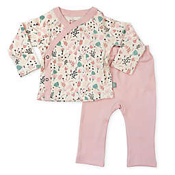 Finn by Finn + Emma 2-Piece 100% Organic Floral Kimono and Pant Set