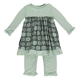 KicKee Pants® Floral Dress Romper in Green
