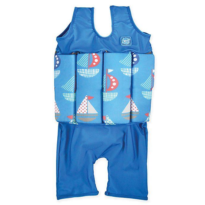 Alternate image 1 for Splash About Set Sail Short John Float Suit in Blue