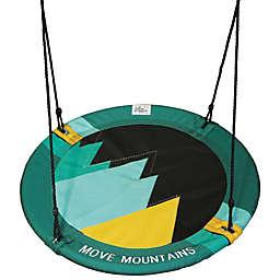 M&M Sales Enterprises Move Mountains Adventure Swing in Green