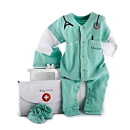 "Baby Aspen Size 0-6M ""Big Dreamzzz"" Baby M.D. 3-Piece Coverall, Hat and Booties Set"