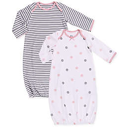 Asher and Olivia® Size 0-6M 2-Piece Stripe and Polka Dot Sleep Bags
