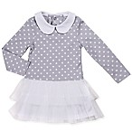 Asher and Olivia® Size 6-9M Polka Dot Tutu Dress in Grey