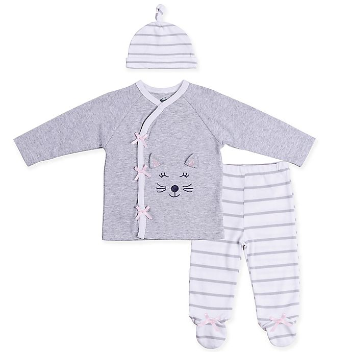 Alternate image 1 for asher and olivia® 3-Piece Industrial Dream Playwear Set with Hat in Grey